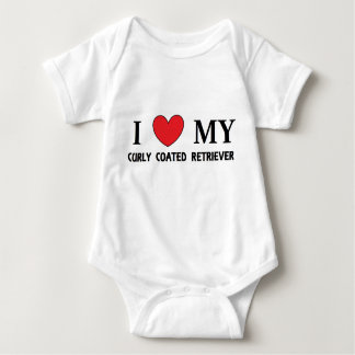 curly coat ret love baby bodysuit