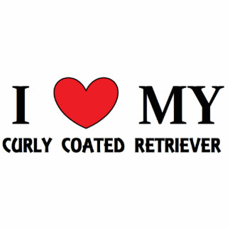 curly coat ret love photo sculpture keychain