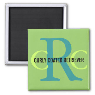 Curly Coated Retriever Breed Monogram Magnet