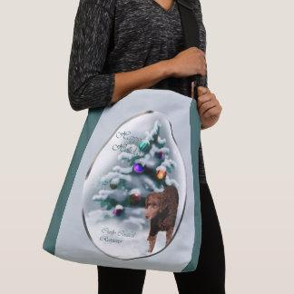 Curly Coated Retriever Christmas Crossbody Bag