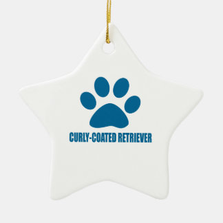 CURLY-COATED RETRIEVER DOG DESIGNS CERAMIC ORNAMENT