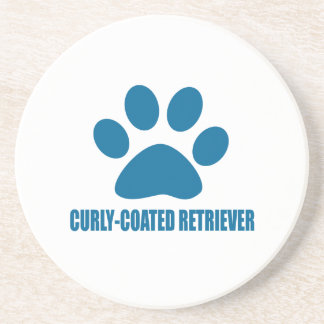 CURLY-COATED RETRIEVER DOG DESIGNS COASTER