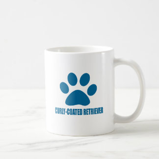 CURLY-COATED RETRIEVER DOG DESIGNS COFFEE MUG