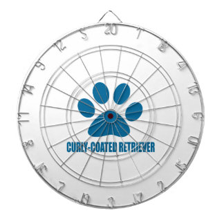 CURLY-COATED RETRIEVER DOG DESIGNS DARTBOARD