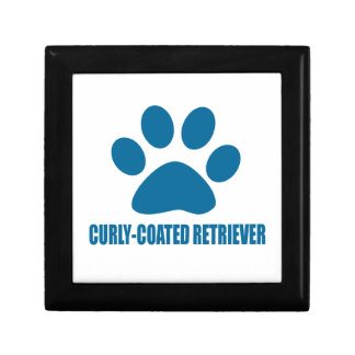 CURLY-COATED RETRIEVER DOG DESIGNS GIFT BOX