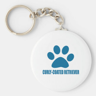 CURLY-COATED RETRIEVER DOG DESIGNS KEYCHAIN