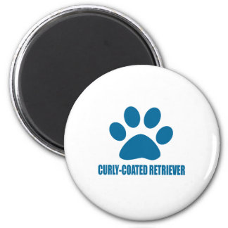 CURLY-COATED RETRIEVER DOG DESIGNS MAGNET