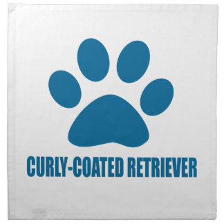 CURLY-COATED RETRIEVER DOG DESIGNS NAPKIN