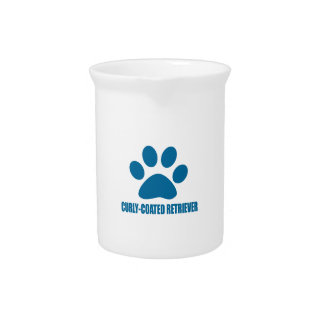 CURLY-COATED RETRIEVER DOG DESIGNS PITCHER