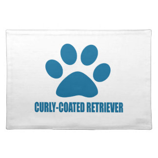 CURLY-COATED RETRIEVER DOG DESIGNS PLACEMAT