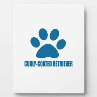 CURLY-COATED RETRIEVER DOG DESIGNS PLAQUE