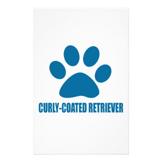 CURLY-COATED RETRIEVER DOG DESIGNS STATIONERY