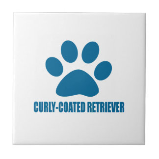 CURLY-COATED RETRIEVER DOG DESIGNS TILE