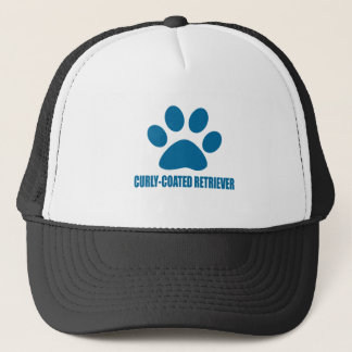 CURLY-COATED RETRIEVER DOG DESIGNS TRUCKER HAT