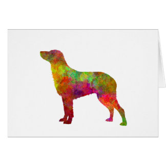 Curly Coated Retriever in watercolor Card