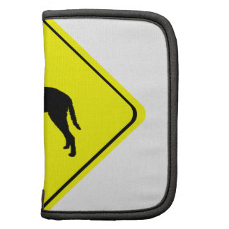 Curly Coated Retriever Silhouette Crossing Sign Organizers