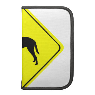 Curly Coated Retriever Silhouette Crossing Sign Planners