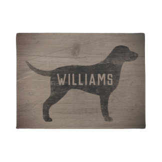 Curly Coated Retriever Silhouette Custom Doormat