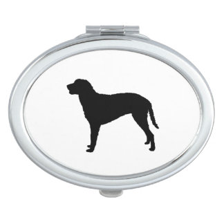 Curly Coated Retriever Silhouette Love Dogs Mirror For Makeup