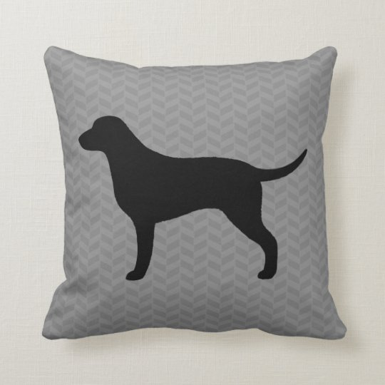 Curly Coated Retriever Silhouette Throw Pillow