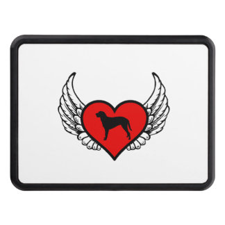 Curly Coated Retriever Winged Heart Love Dogs Trailer Hitch Cover