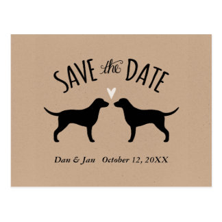 Curly Coated Retrievers Wedding Save the Date Postcard