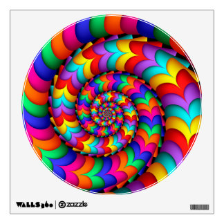 Curly Coil Rainbow Spiral Wall Decal