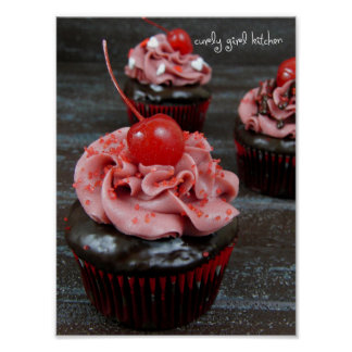 Curly Cupcake Poster