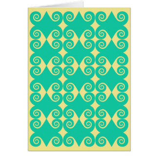 Curly Diamond Pattern Card