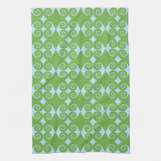 Curly Diamond Pattern Hand Towel