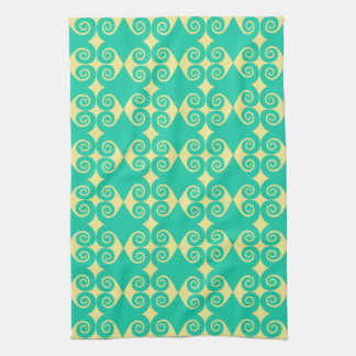 Curly Diamond Pattern Hand Towels