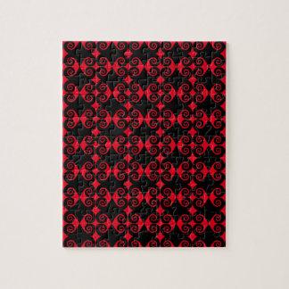 Curly Diamond Pattern Jigsaw Puzzle