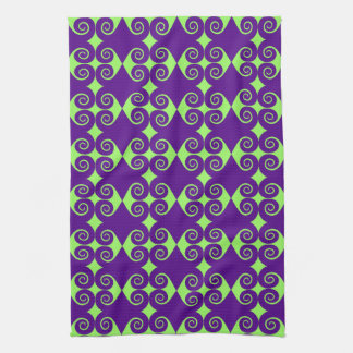 Curly Diamond Pattern Kitchen Towel