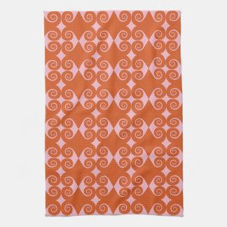 Curly Diamond Pattern Kitchen Towels