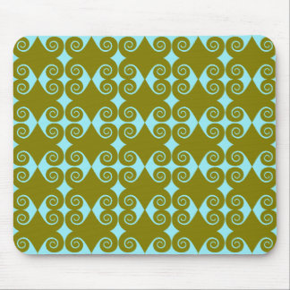 Curly Diamond Pattern Mouse Pad