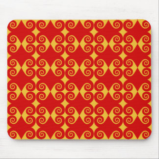 Curly Diamond Pattern Mouse Pad