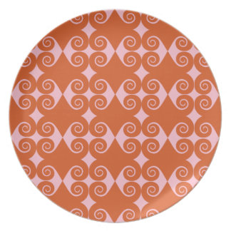 Curly Diamond Pattern Party Plate