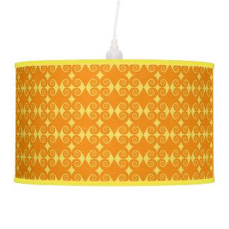 Curly Diamond Pattern Pendant Lamp