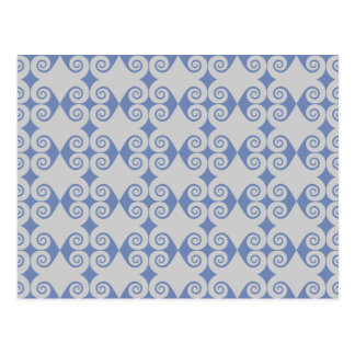 Curly Diamond Pattern Postcard