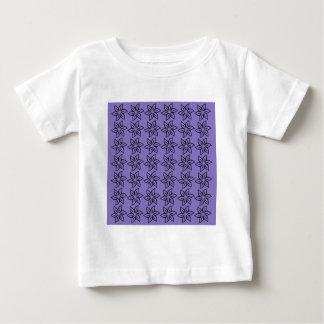 Curly Flower Pattern - Black on Ube Baby T-Shirt