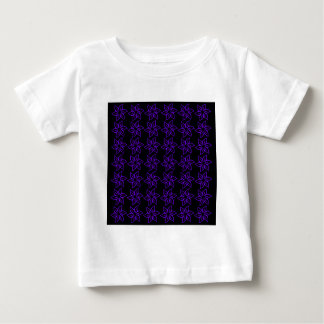 Curly Flower Pattern - Violet on Black Baby T-Shirt