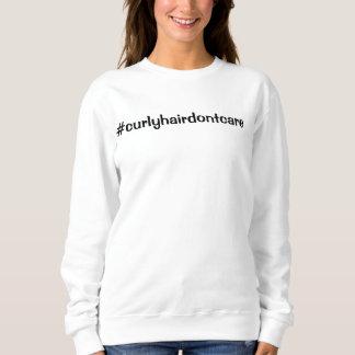 Curly hair don't care logo sweatshirt