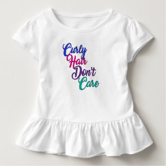 Curly Hair Don't Care Toddler T-shirt