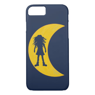 Curly hair girl in the moon iPhone 8/7 case