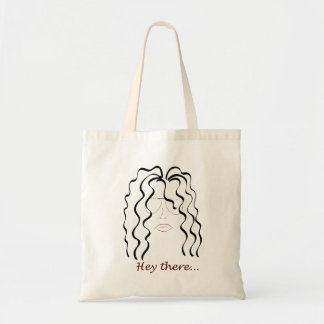 Curly hair I don't Care Tote Bag