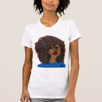Curly Hair Wavy Natural Hair Queen Black Art T-Shirt