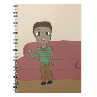 Curly Haired Boy Notebook