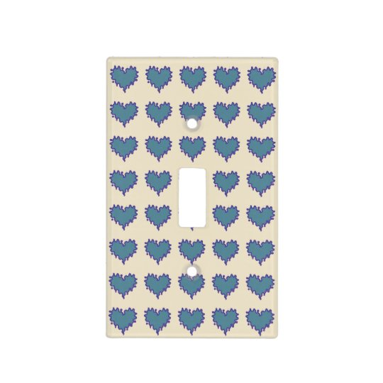 Curly Heart Grey Blue Canary Light Switch Cover