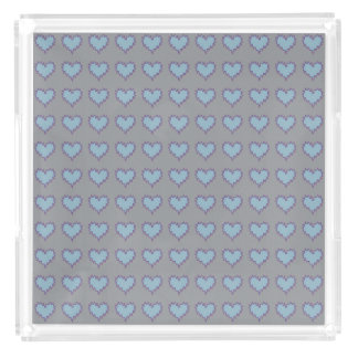 Curly Heart Light Blue on Gray Perfume Tray