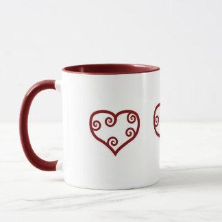 Curly Hearts - mug